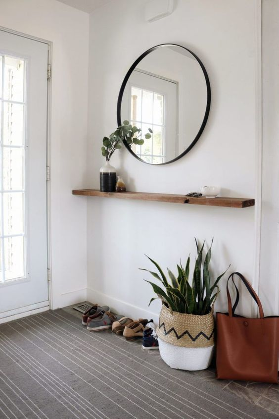 Wall-hinged Entry Table