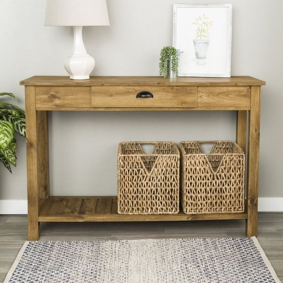 Classic Wood Entry Table